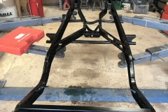 Wolseley Hornet chassis restoration powder coating