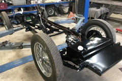 Wolseley Hornet chassis restoration assembly
