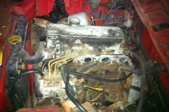 BMW 2002 tii before engine rebuild