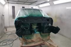 e type Jaguar in paint