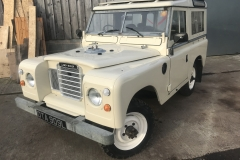 Series 3 Landrover partial restoration