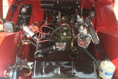 Austin Healey Sprite MkI engine bay